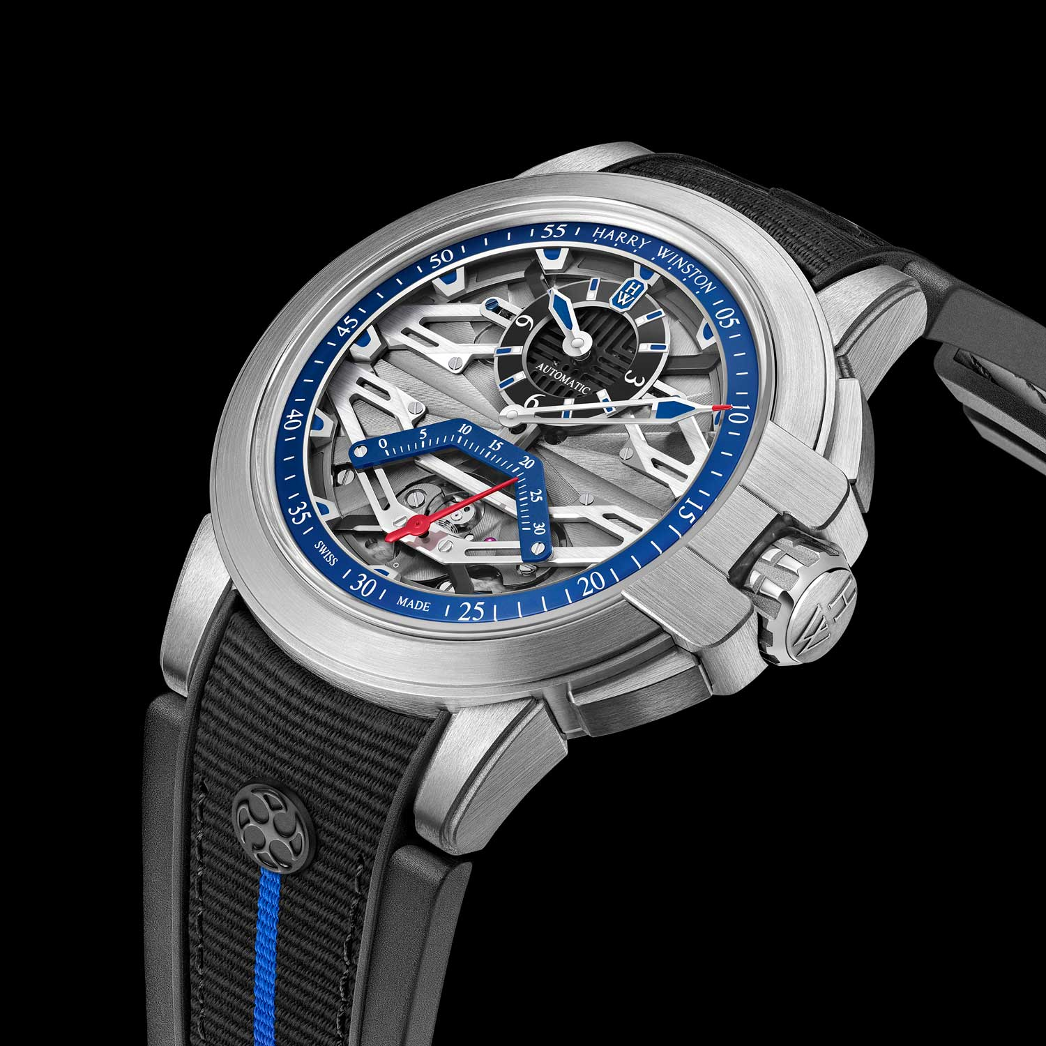 The Project Z15 presents Harry Winston's classical regulator dial layout with an added twist of a retrograde seconds indication.