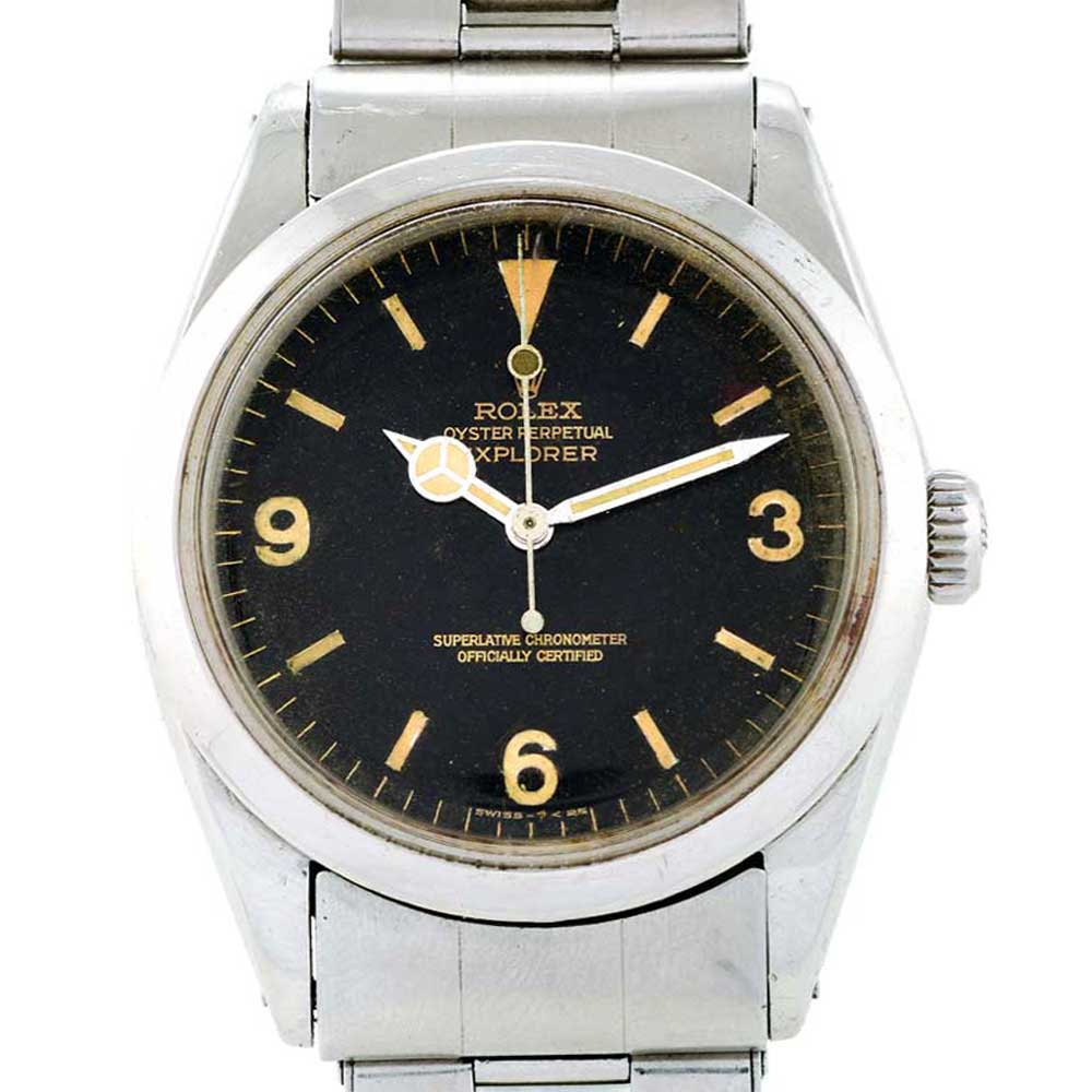 Rolex Explorer ref. 6150 featuring a Mercedes hour hand
