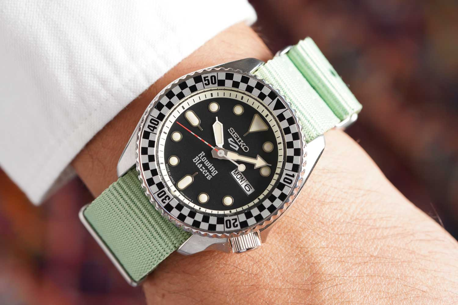 The Rally Diver model is designed to appease vintage watch enthusiasts