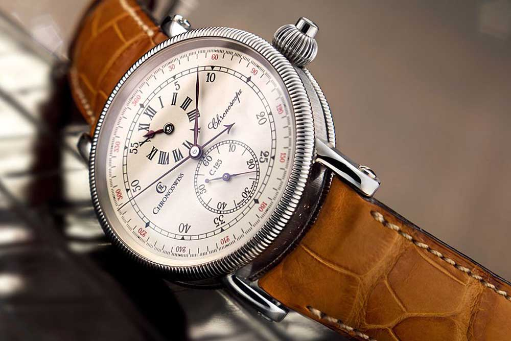 Strehler developed a chronograph movement for Chronoscope, which was the first chronograph with a regulator-style display in which the hours and seconds were displayed in subdials, while the main dial was reserved for the minutes as well as the chronograph seconds.