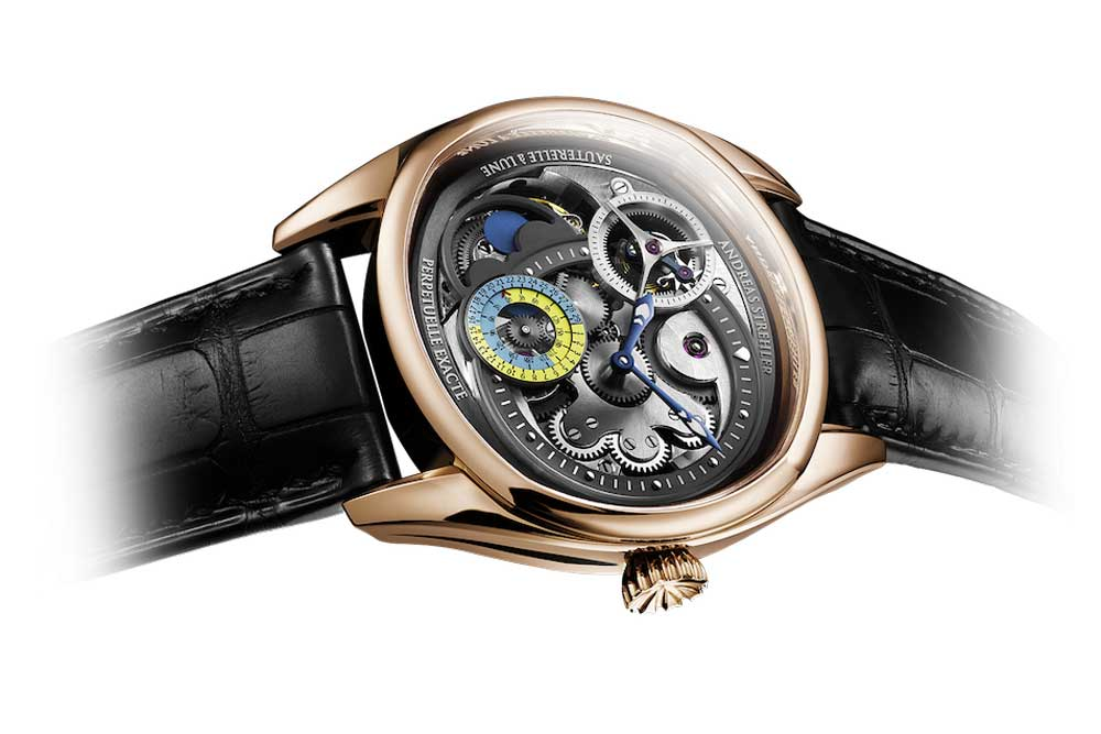 The Papillon à Lune Exacte shows the age of the moon to the closest three hours.
