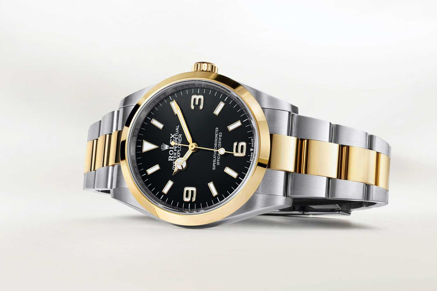 This year, Rolex relaunched the Explorer in its familiar 36mm guise and has expanded the line with a Rolesor yellow gold and Oystersteel version.
