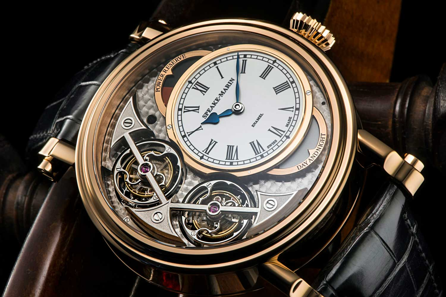 The Magister Vertical Double Tourbillon, featuring two one-minute tourbillons linked by a limited-slip spring clutch.
