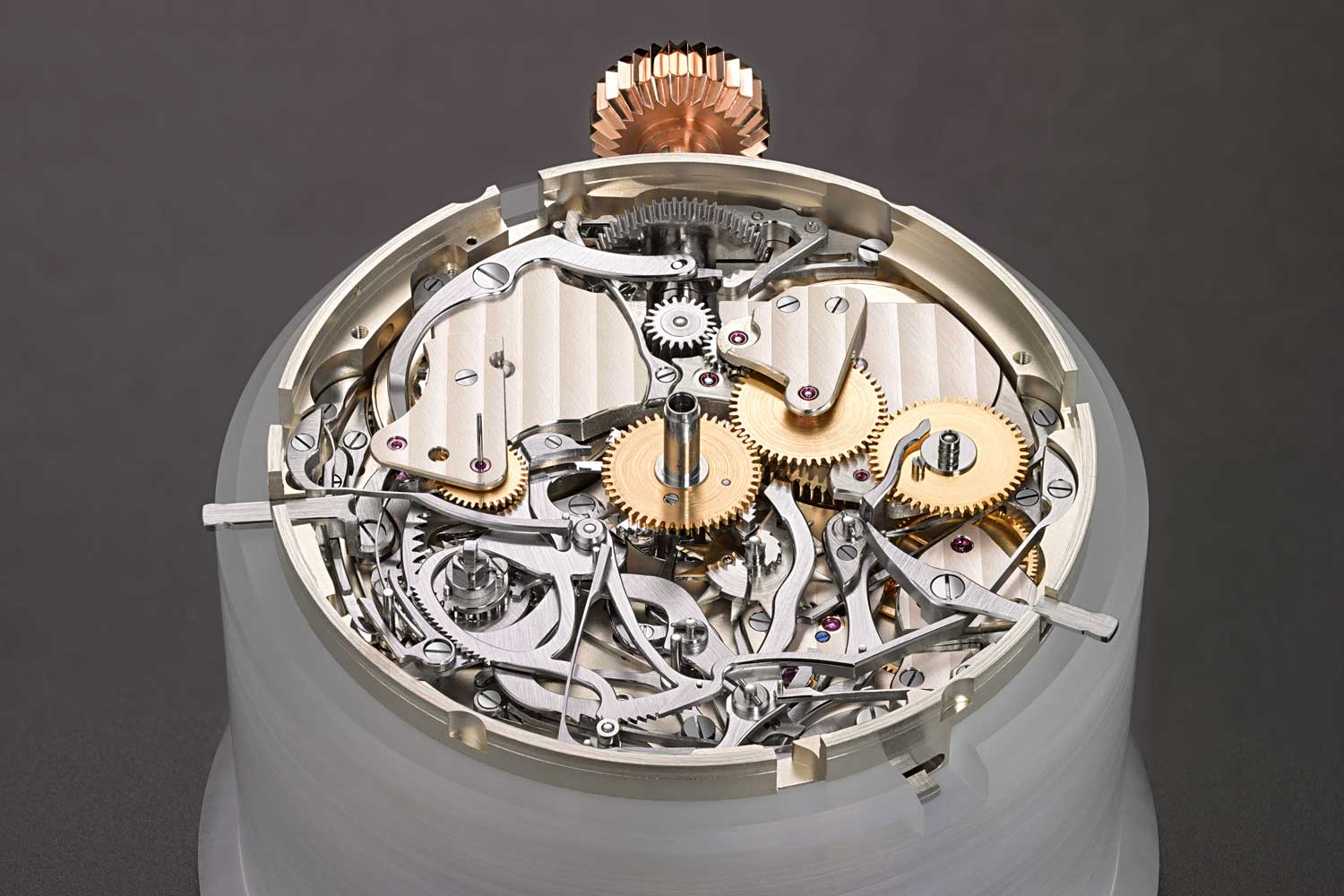 The movement of the Grand Complication showing the strike train