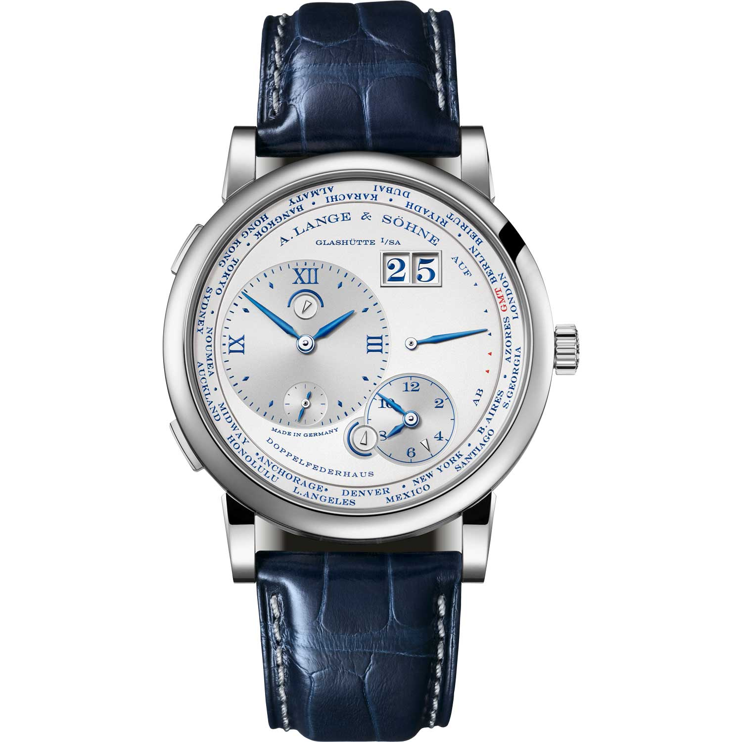 """LANGE 1 TIME ZONE """"25th Anniversary"""" ref. 116.066; 41.90mm; 25-piece limited edition; launched May 2019"""