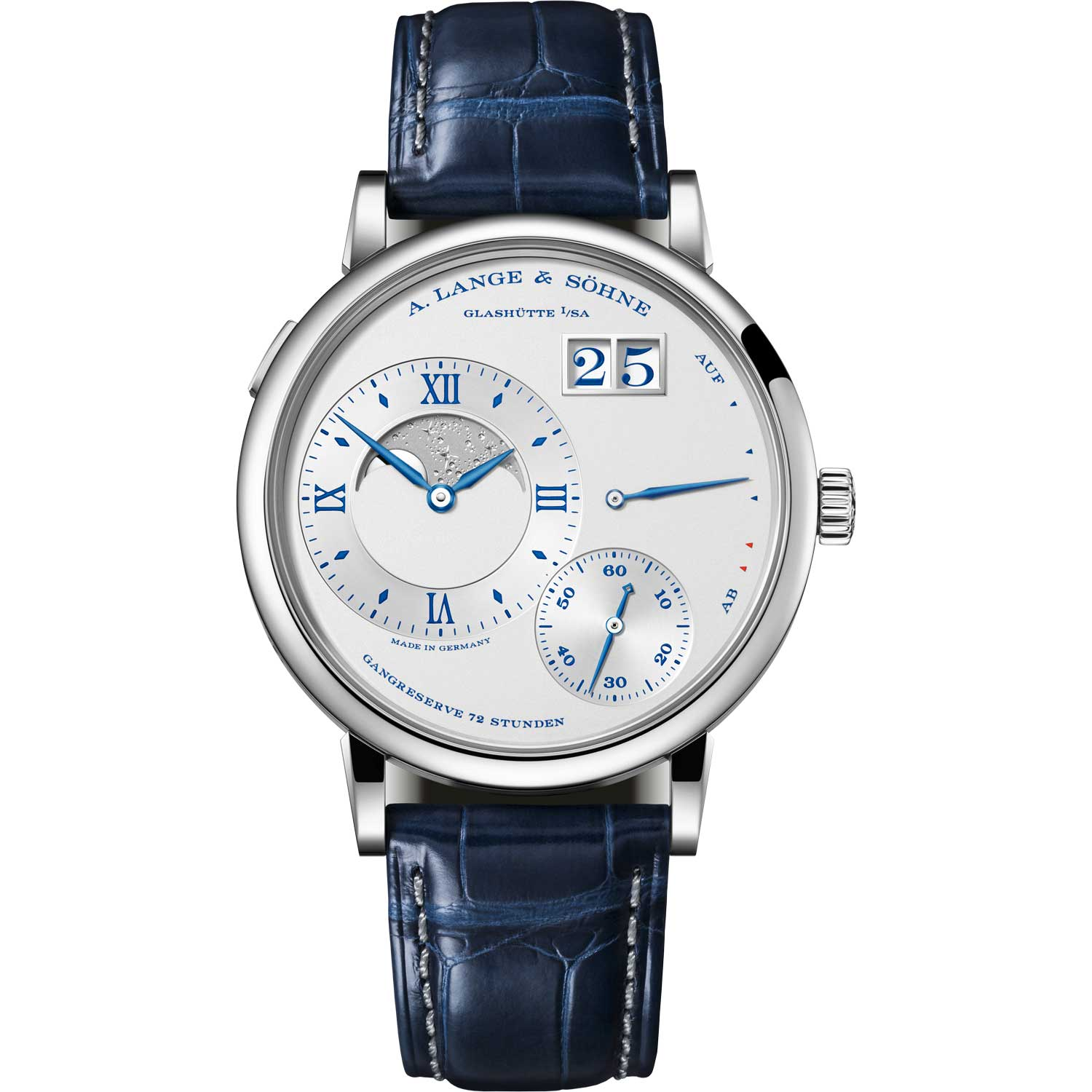 """GRAND LANGE 1 MOON PHASE """"25th Anniversary"""" ref. 139.066; 41.00mm; 25-piece limited edition; launched in February 2019"""