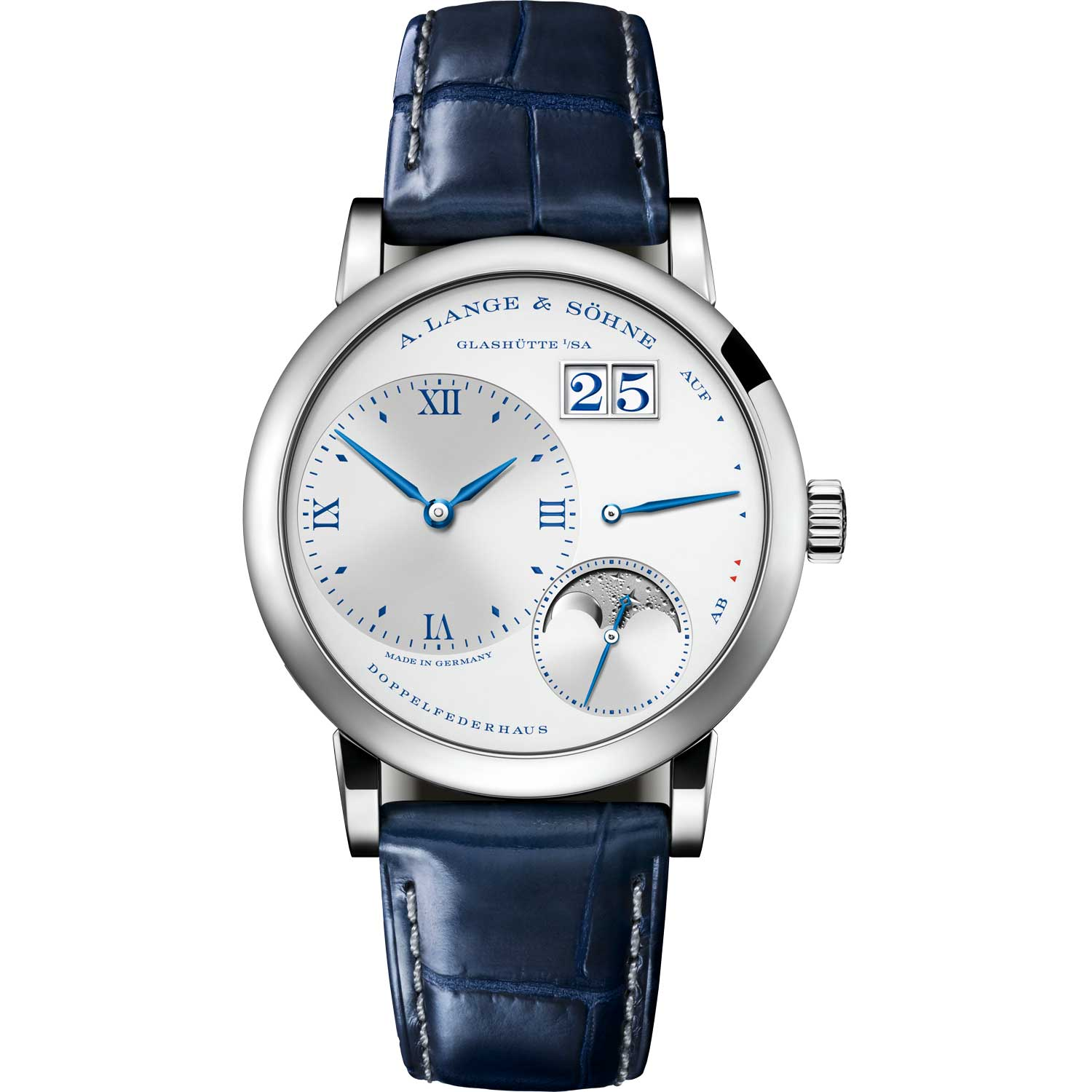"""LITTLE LANGE 1 MOON PHASE """"25th Anniversary"""" ref. 182.066; 36.80mm; 25-piece limited edition; launched September 2019"""