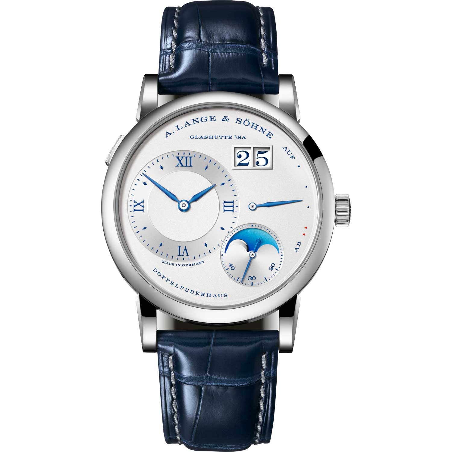 """LANGE 1 MOON PHASE """"25th Anniversary"""" ref. 192.066; 38.50mm; 25-piece limited edition; launched July 2019"""