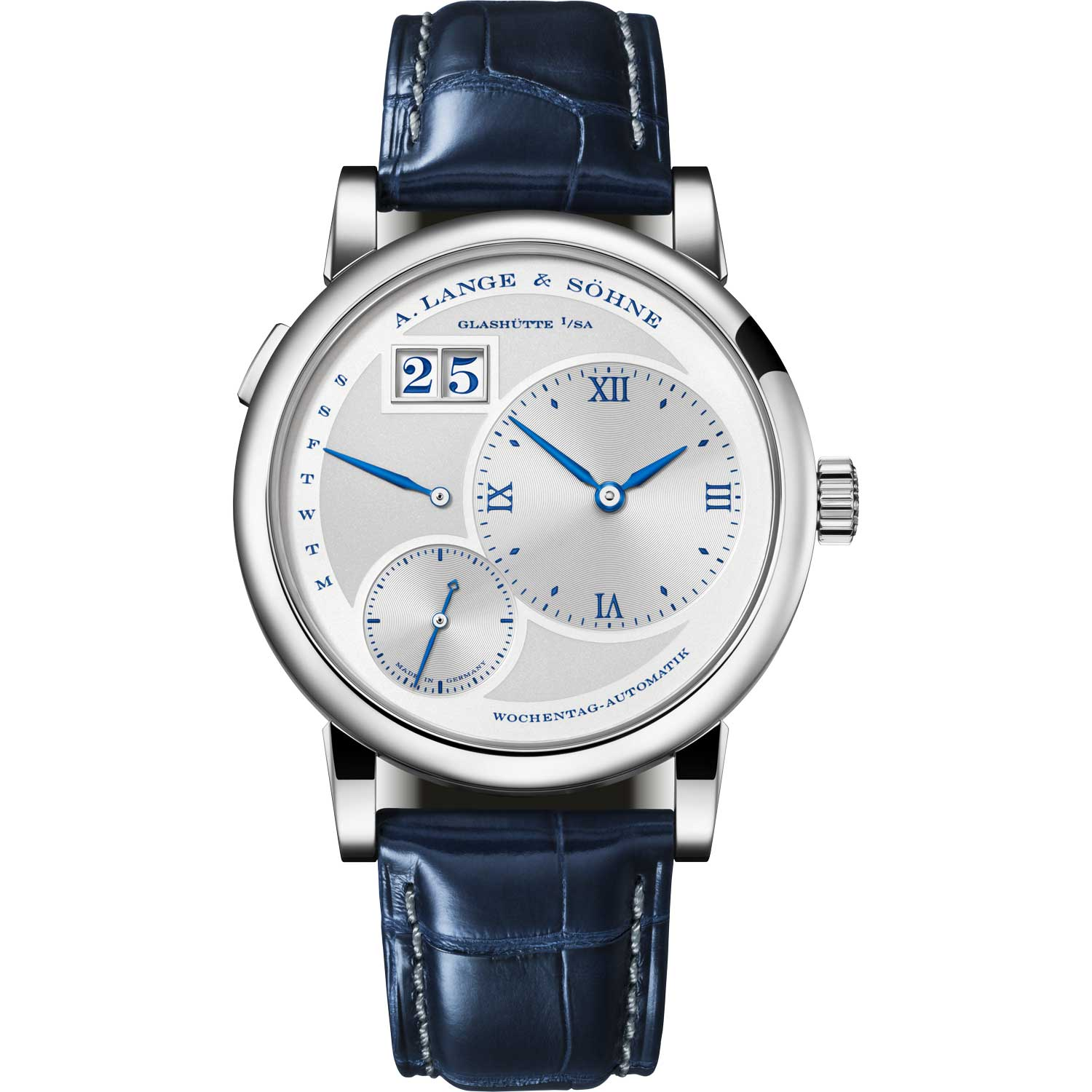 """LANGE 1 DAYMATIC """"25th Anniversary"""" ref. 320.066; 39.50mm; 25-piece limited edition; launched August 2019"""