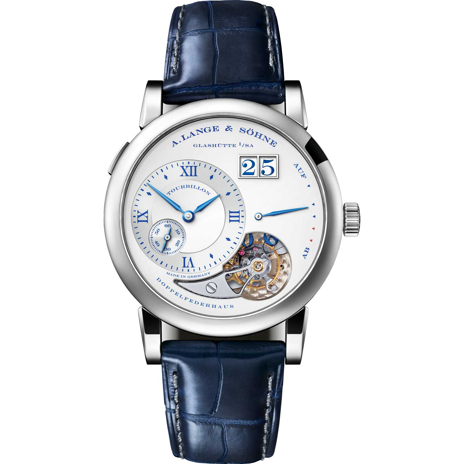 """LANGE 1 TOURBILLON """"25th Anniversary"""" ref. 722.066; 38.50mm; 25-piece limited edition; launched September 2019"""