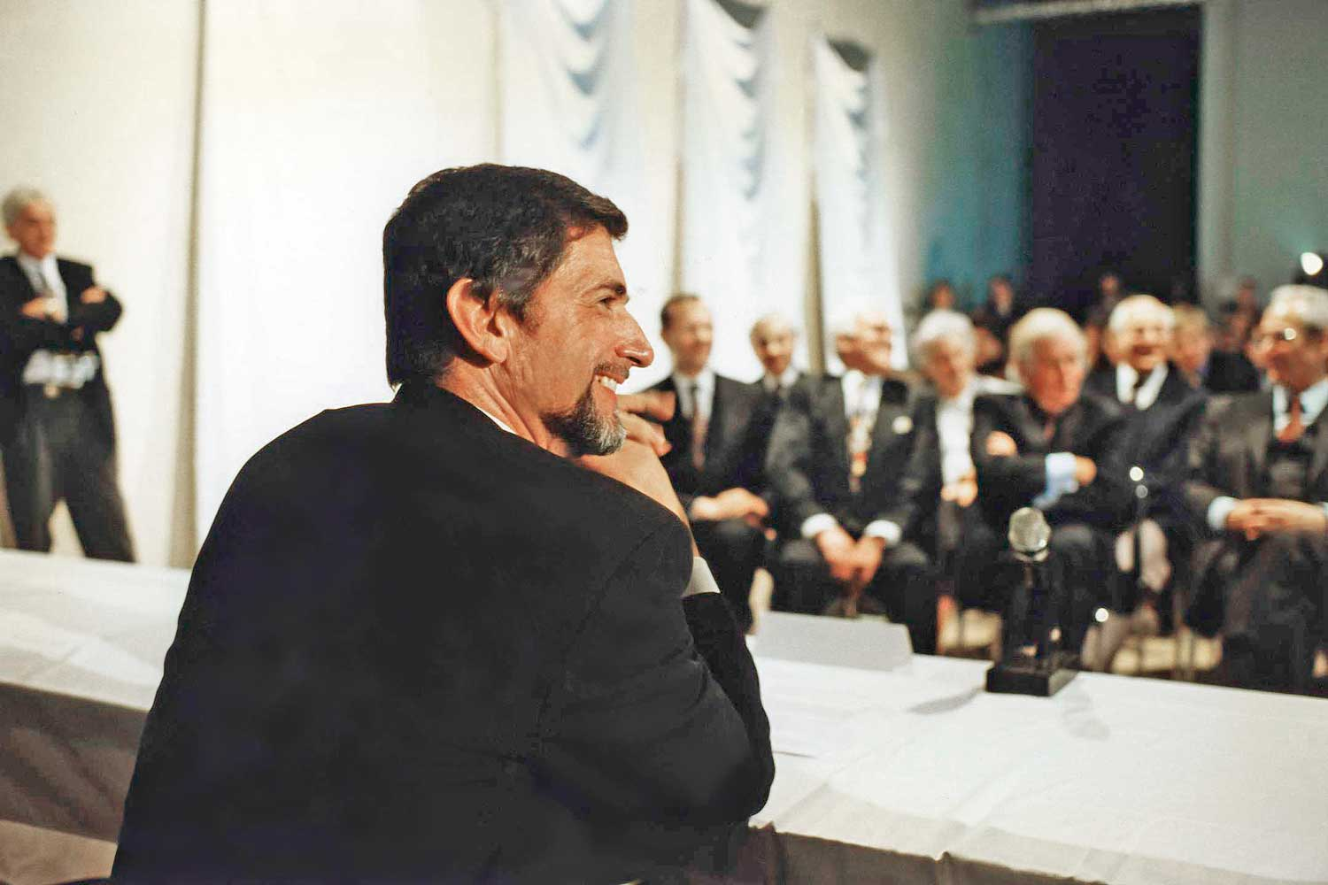 Günter Blümlein at the 24 October 1994 press conference for the launch of A. Lange & Söhne