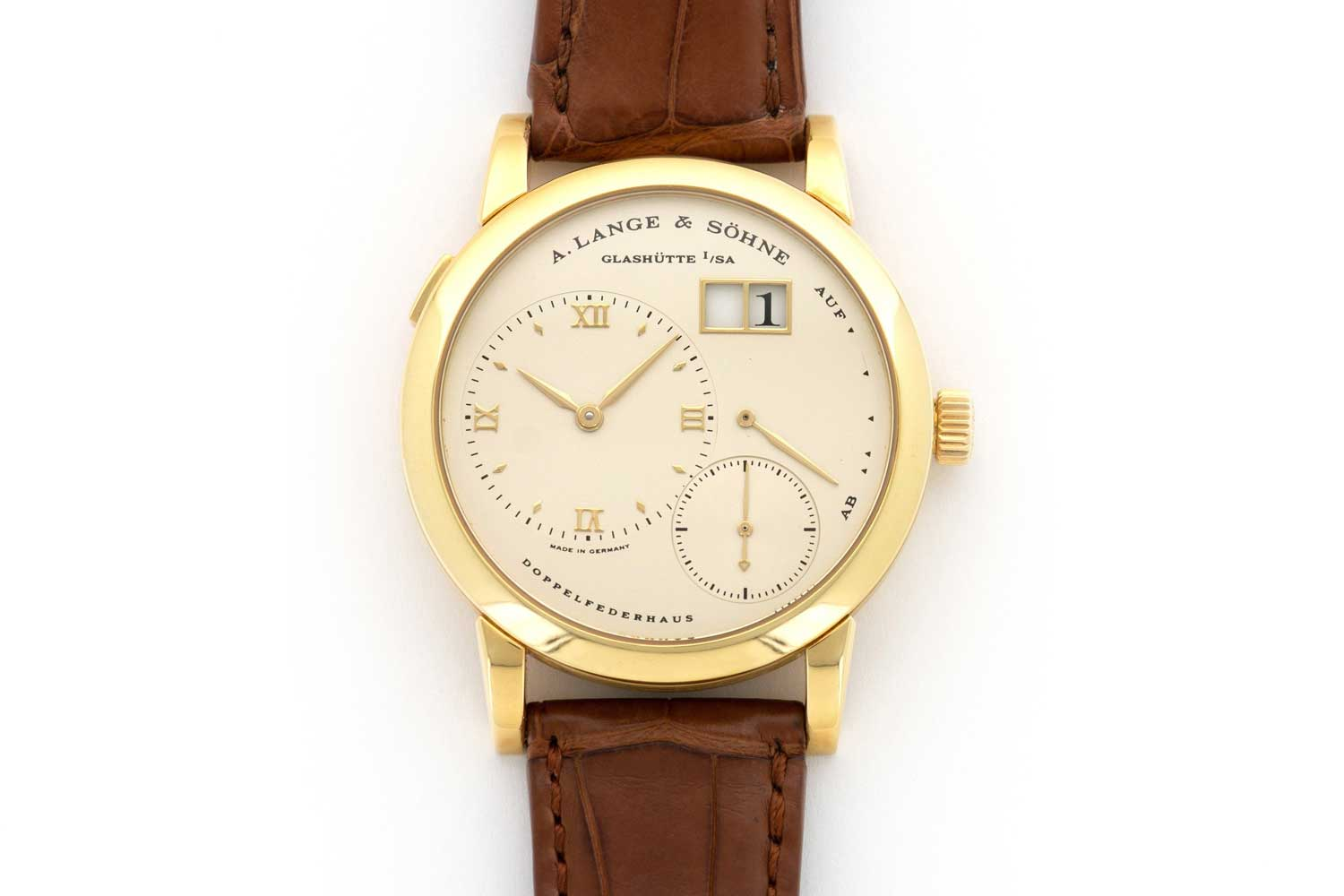 The Lange 1 was launched in 1994, the 24th of October as the ref. 101.021 (Image: thekeystone.com)