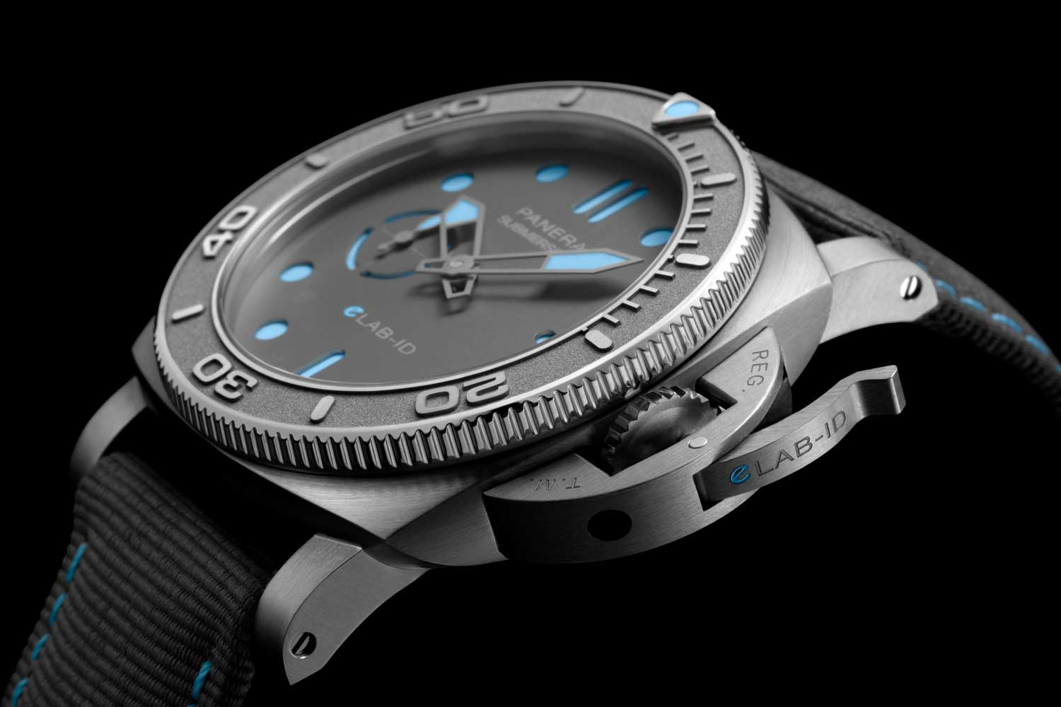 The Panerai Submersible eLAB-ID has its case, dial and even the bridges of its movement made of recycled EcoTitanium