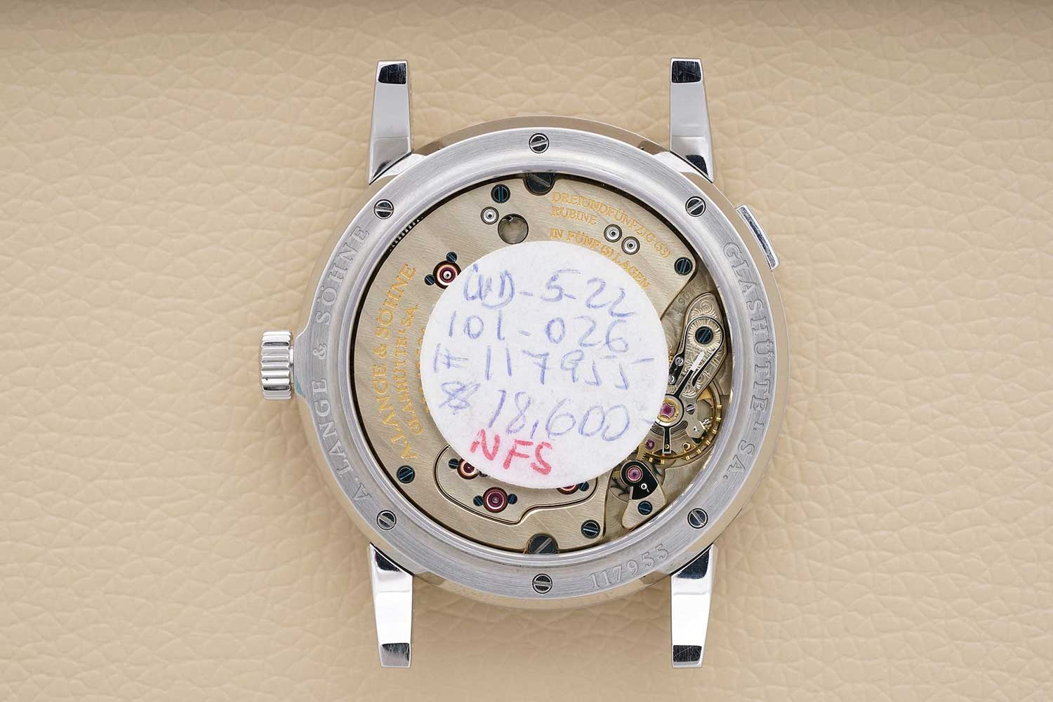 This particular example of the stainless steel Lange 1 was sold by Phillips at their New York Auction on 10 December 2019 and sold for USD 343,750 (Image: Phillips.com)