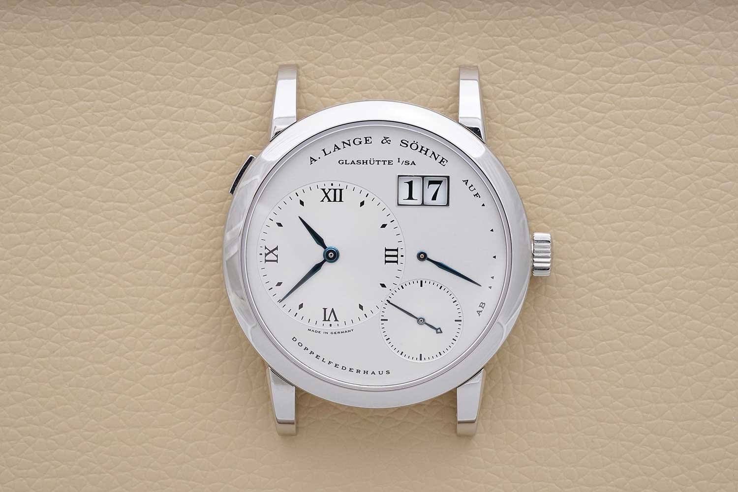 The fabled stainless steel Lange 1 reference 101.026 (Image: phillips.com)