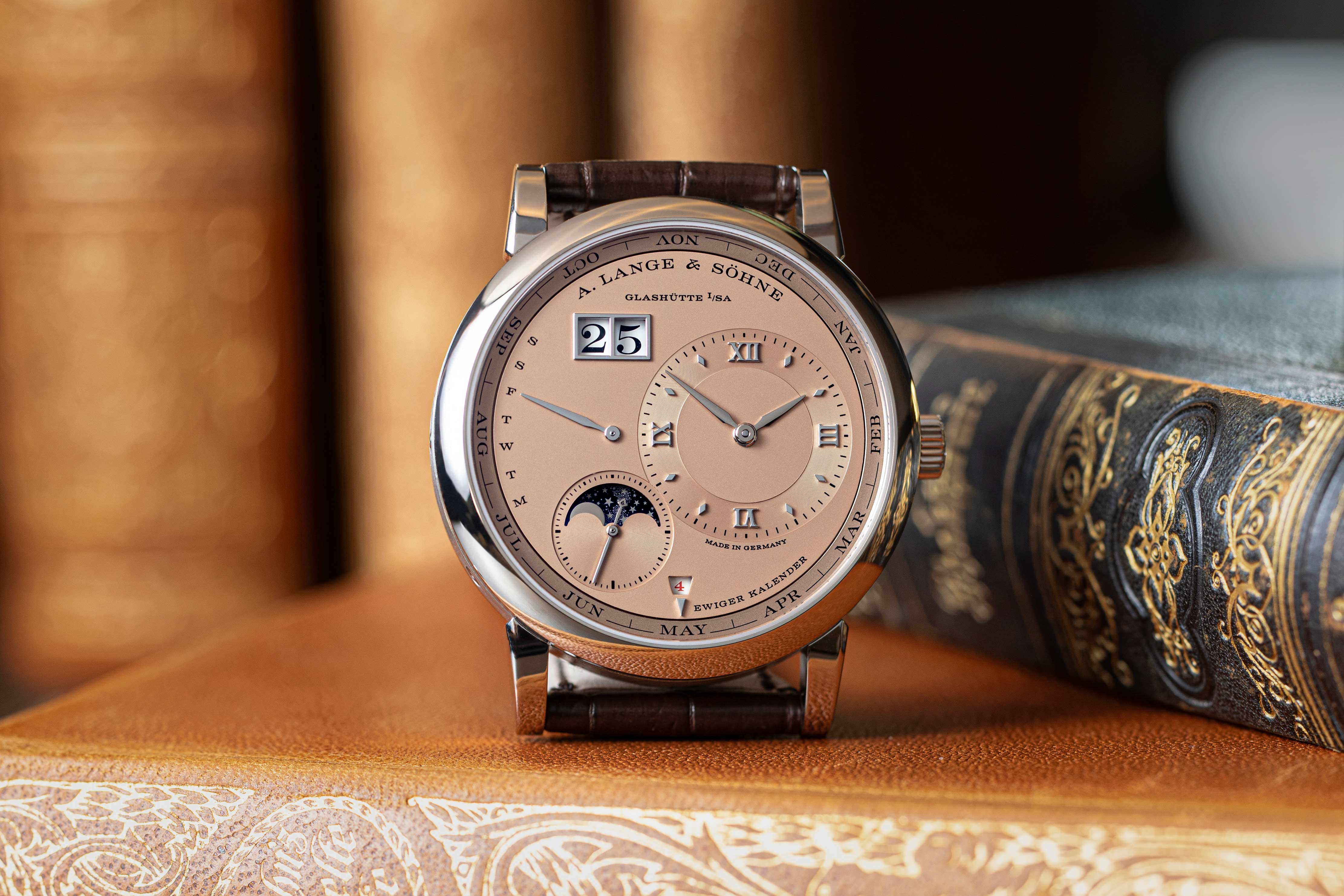 The 2021, Lange 1 Perpetual Calendar in white gold with a solid pink gold dial, limited to 150 pieces only (©Revolution)