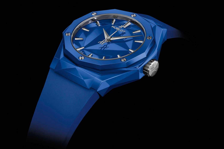 The Hublot Classic Fusion 40mm Orlinski Edition in blue ceramic