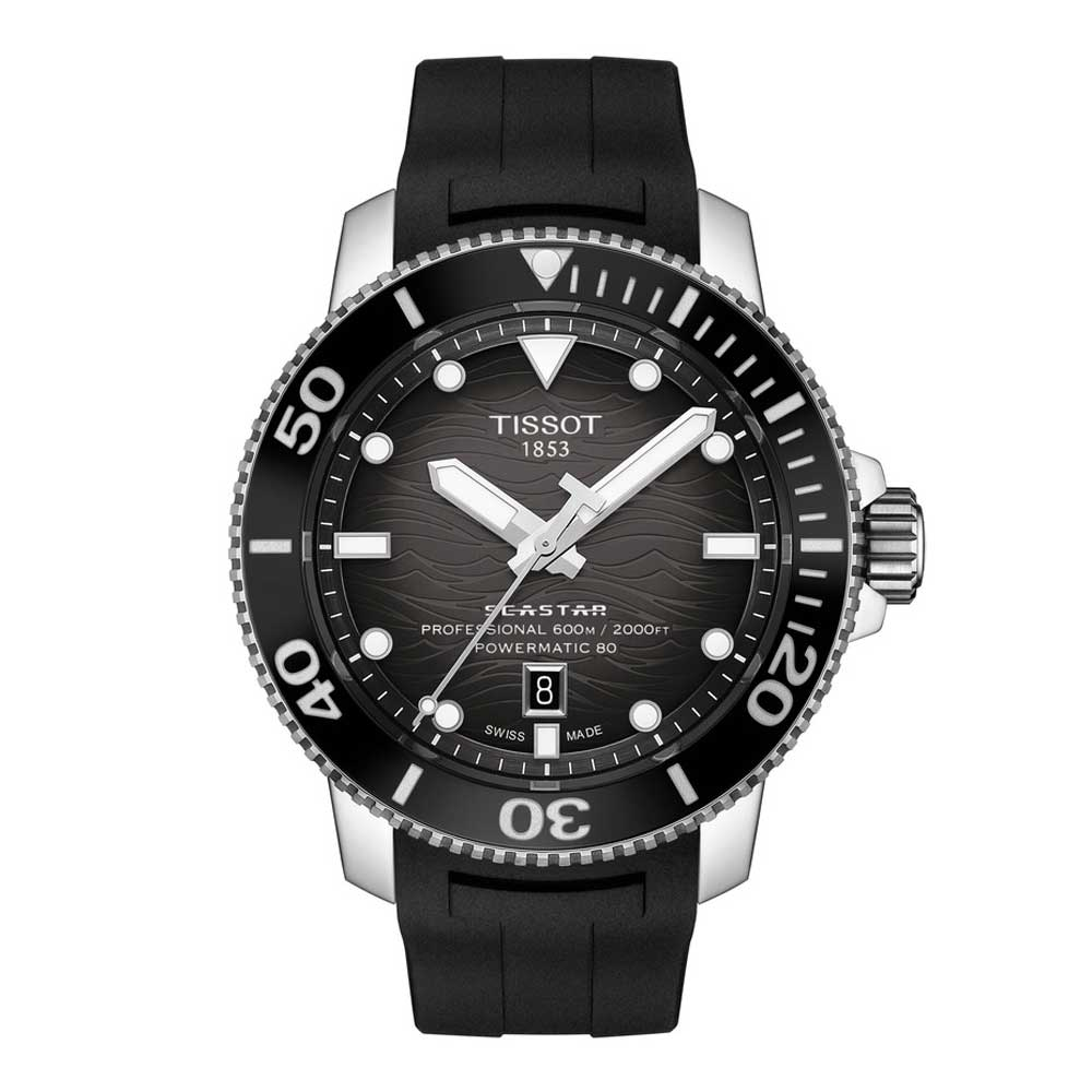 The Seastar 2000 provides an instant orientation with its well-arranged indices: a triangle at 12 o'clock, rectangles for 3, 6 and 9 and circles for the rest.