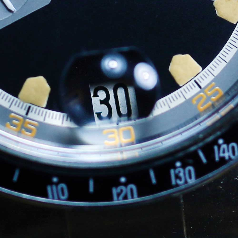 The orange accents on the dial are also a different and more yellow shade to those we are used to seeing.