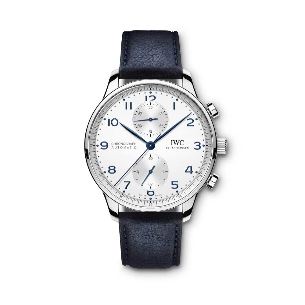 The TimberTex strap currently complements four models: the Portugieser Chronograph, Portugieser Automatic 40, Portofino Automatic and Portofino Chronograph.