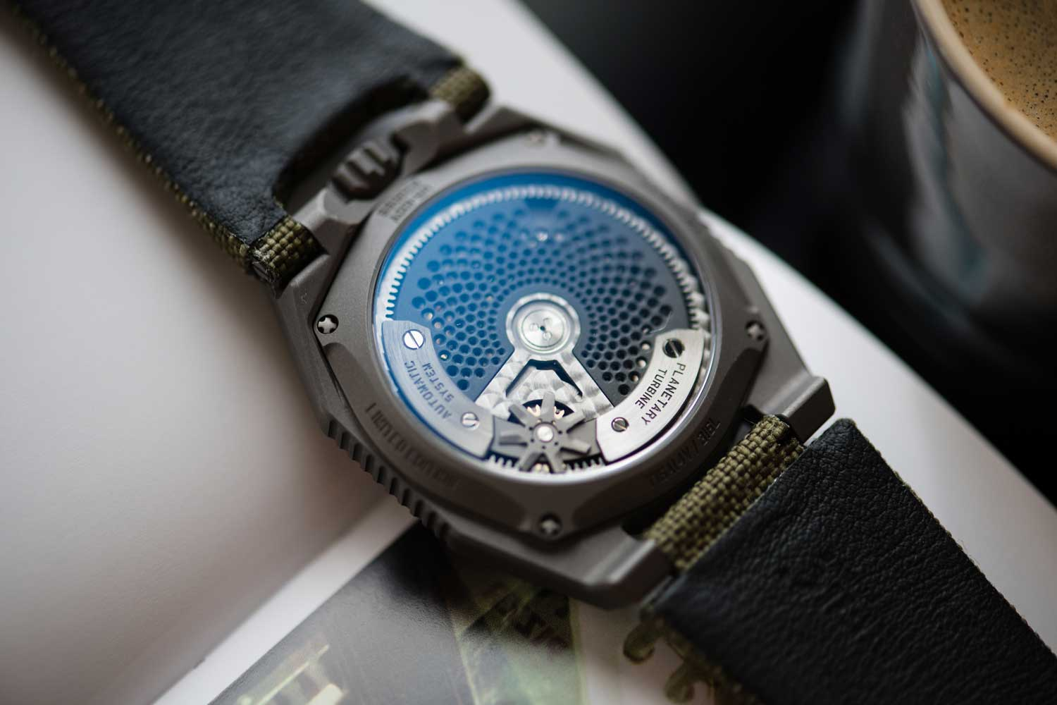 The watch is powered by the UR 12.02 automatic movement (Image: Peter Tung)