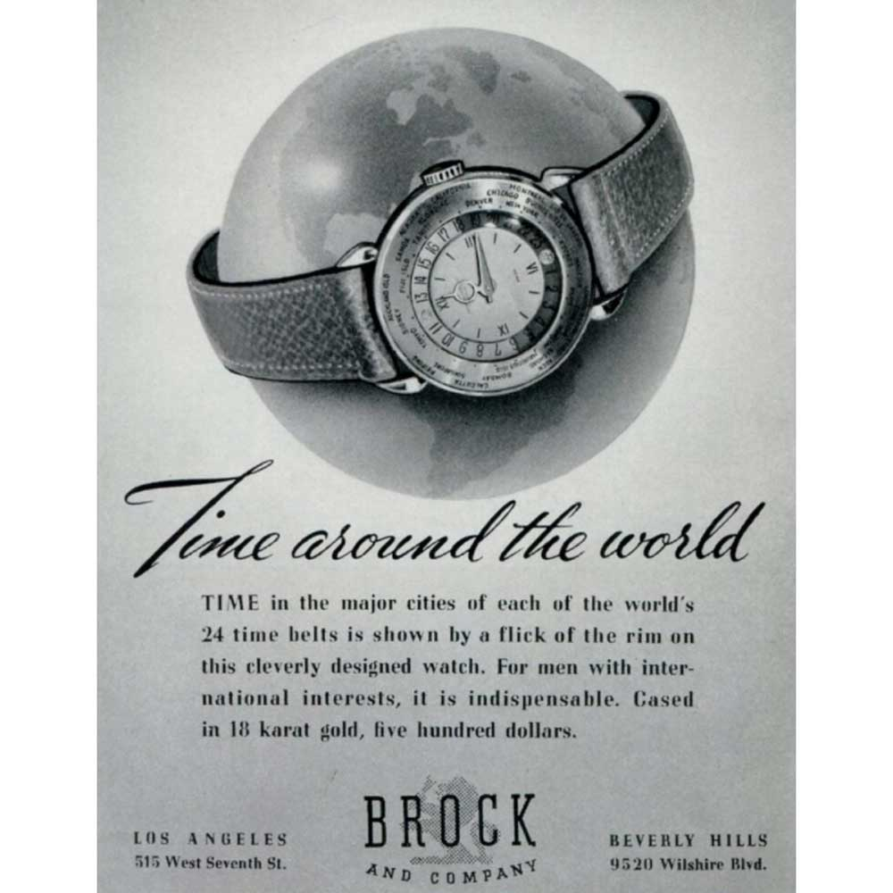 An old advertisement for Patek Philippe world timers (Image: Collectability)