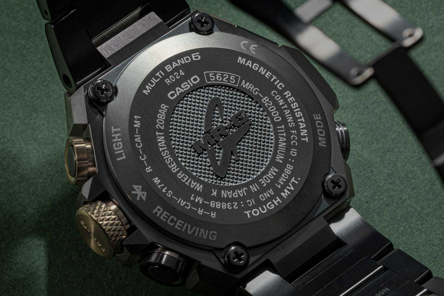 """The watch has a """"Triple G Resist"""" solar-powered quartz movement, which has been tested to withstand vibrations, centrifugal force, and, of course, shocks (©Revolution)"""
