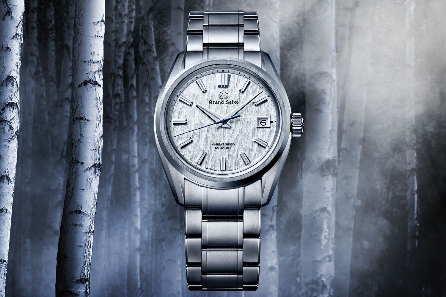 Grand Seiko's Heritage Collection Series 9 SLGH005 is inspired by white birch trees that grow near the Grand Seiko Studio Shizukuishi in the northern part of Japan.