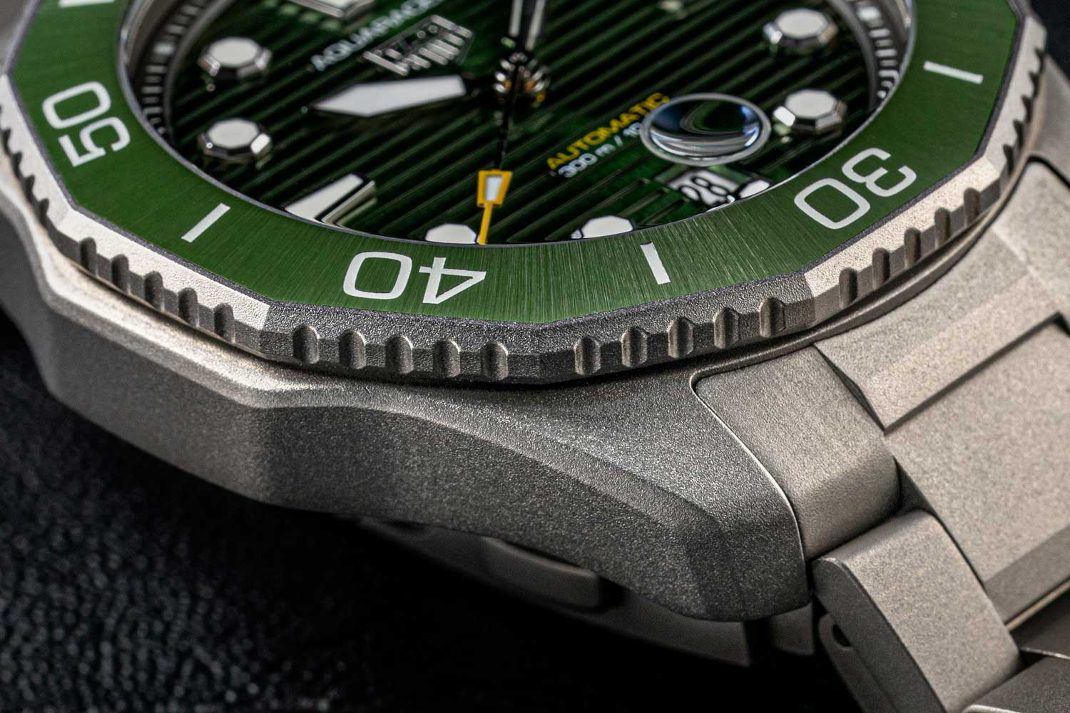 The Aquaracer Professional 300 measures 12.2mm in thickness. (©Revolution)
