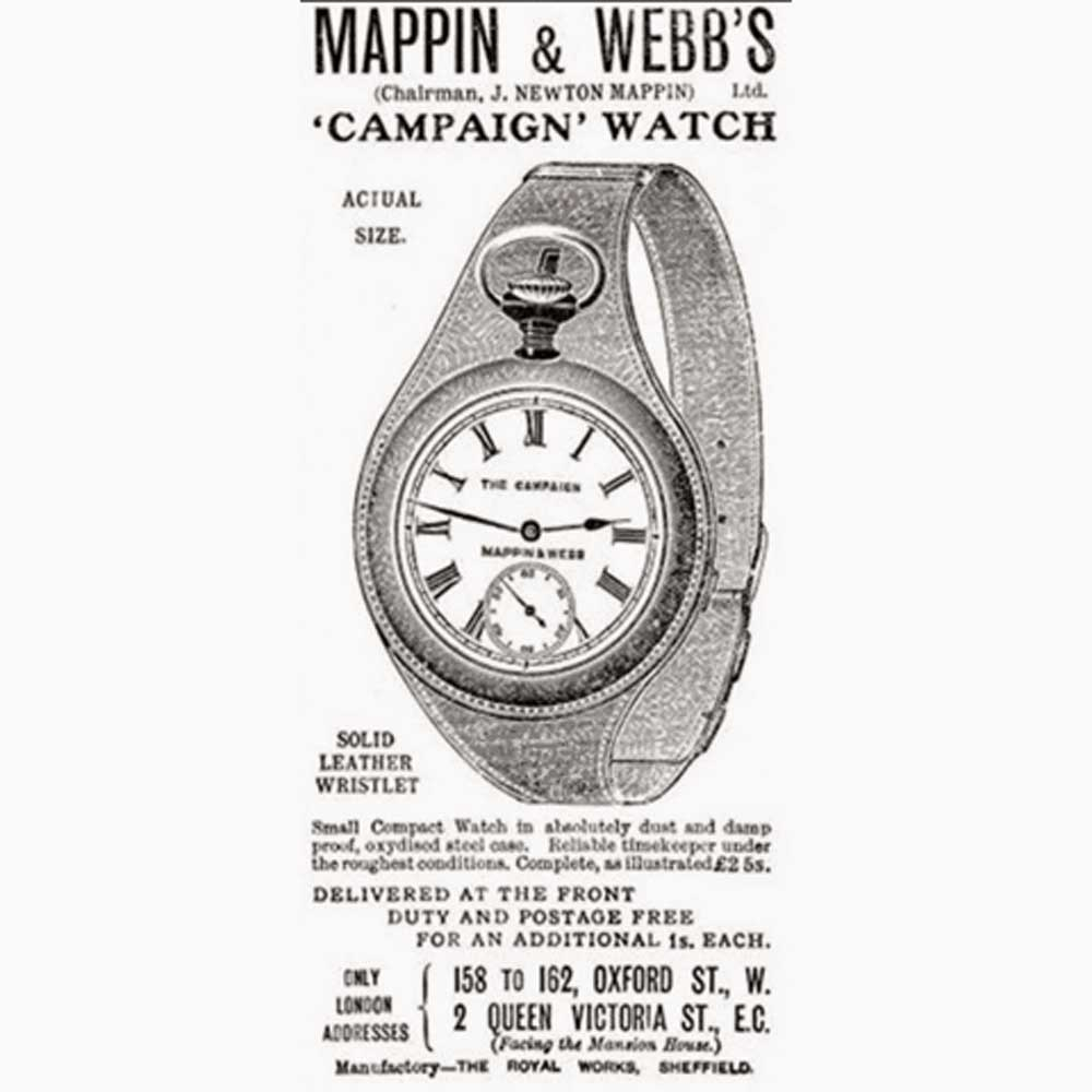 An old advertisement for a wristlet