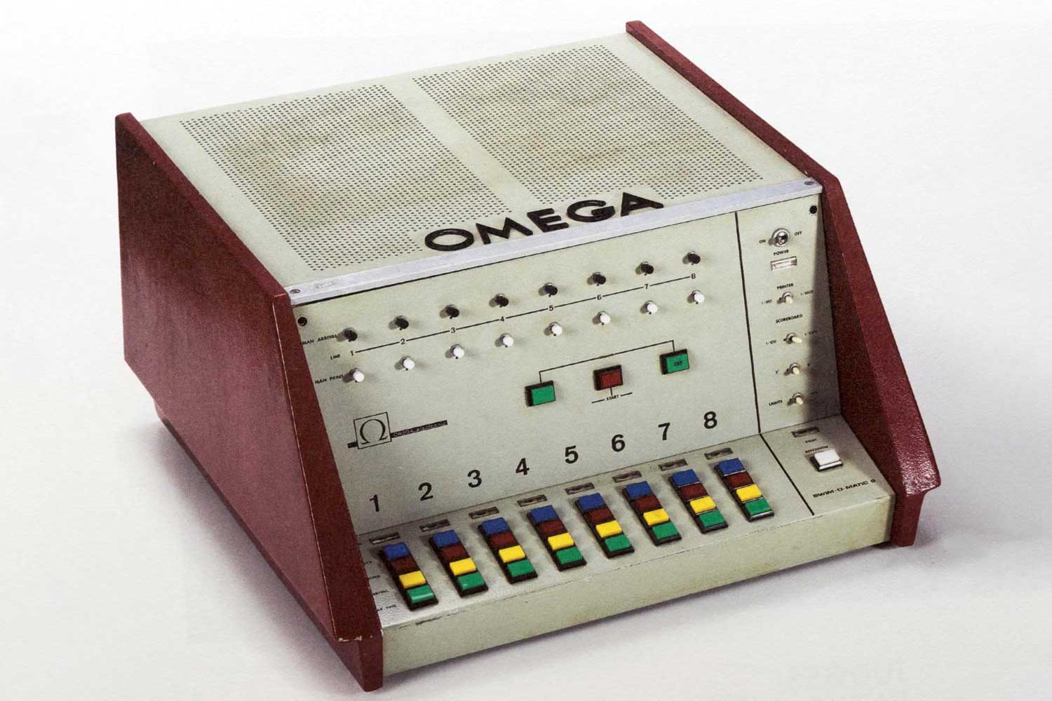 The Omega Swim Eight-O-Matic from Melbourne, 1956.