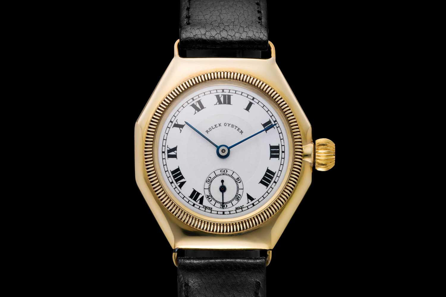 Introduced in 1926, the Oyster watch watch was the world's first waterproof wristwatch