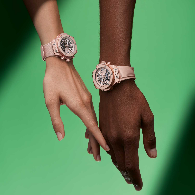 Hublot's collaborative piece with Garage Italia, the Big Bang Millennial Pink.