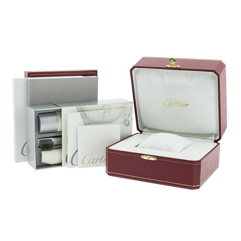 The watch comes with its original set of box and papers and a two-year warranty from Watchfinder.
