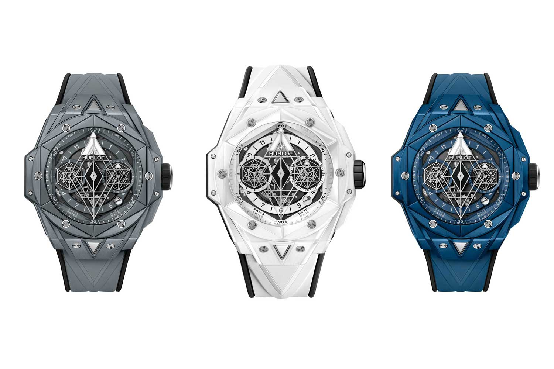 The three new versions of Hublot's Big Bang Sang Bleu II Ceramic watches