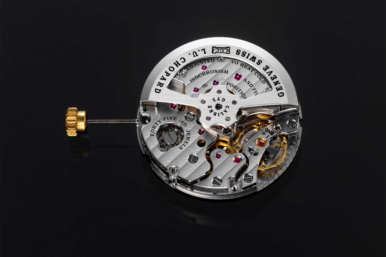 The groundbreaking L.U.C 10 CF movement was launched on the occasion of L.U.C's 10th anniversary in 2006. It is the only chronograph movement in the world that features a zero reset for the small running seconds.