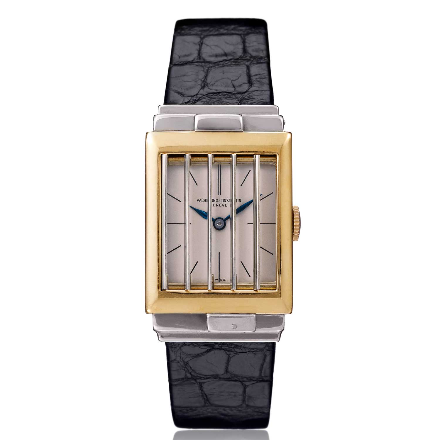 A 1930s shutter watch made by Vacheron Constantin in collaboration with Paris-based jewellers Verger Frères.