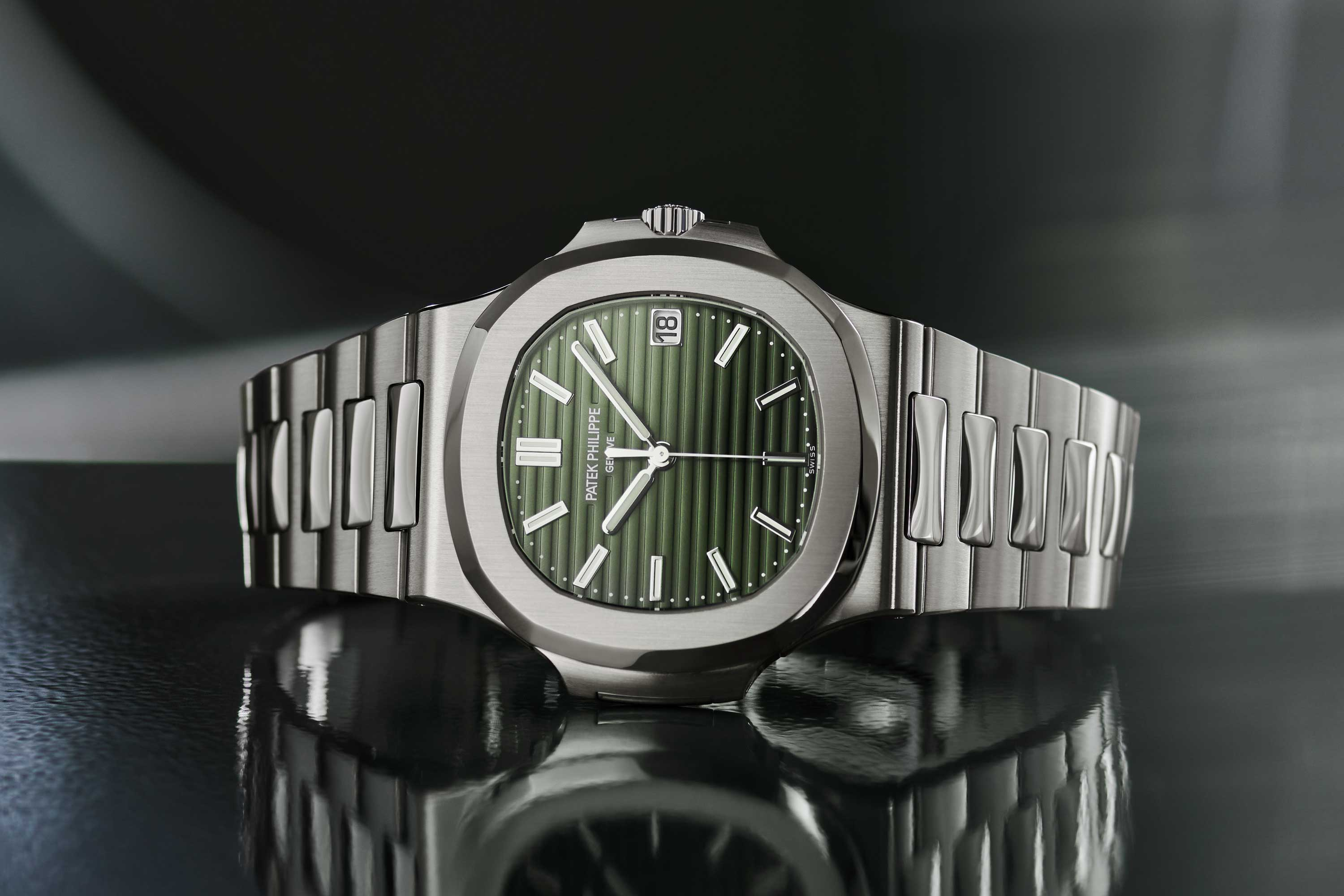 The green-dialled stainless steel Nautilus ref. 5711/1A-014