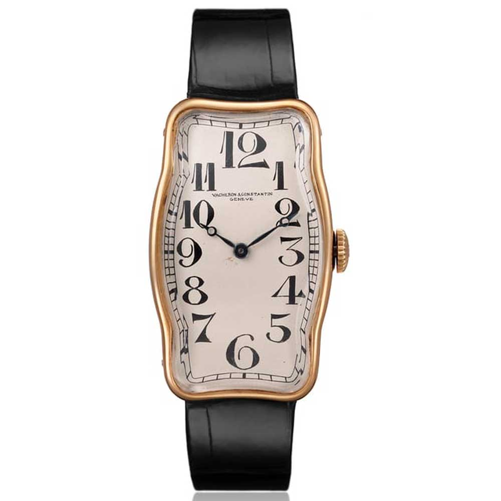 A special-shaped Vacheron Constantin wristwatch ref. 10970 in 18K yellow gold from 1917