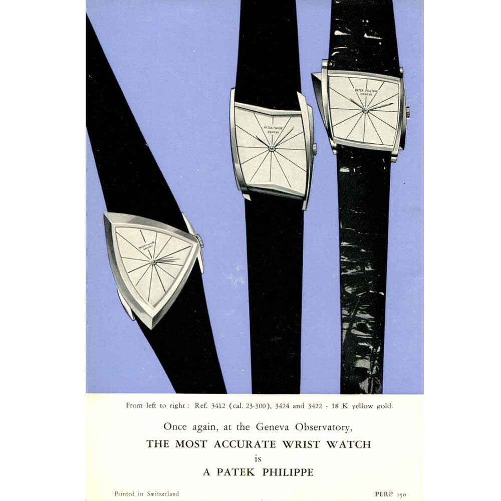 Patek Philippe ad for the Gilbert Albert watches from 1960s (Image: Collectability)