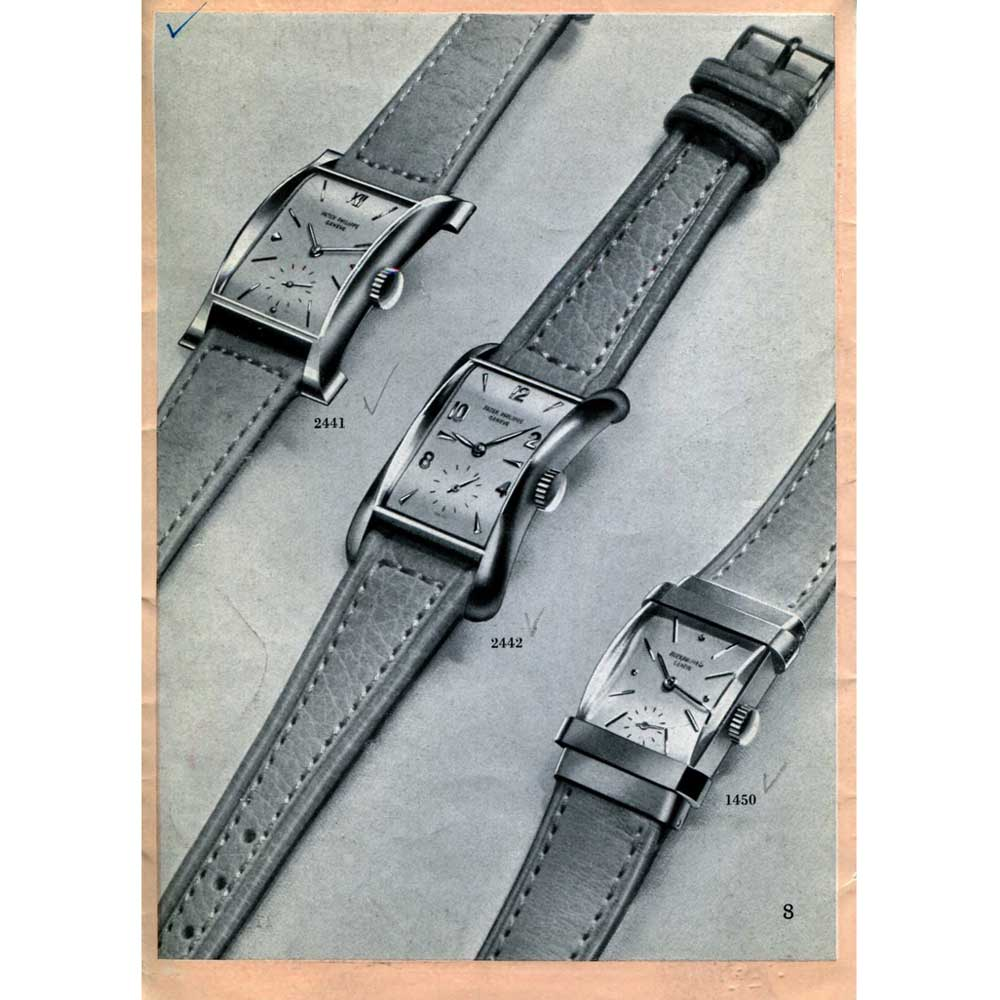 """An old catalogue featuring Patek Philippe'sref. 2442 """"Marilyn Monroe""""(Image: Collectability)"""