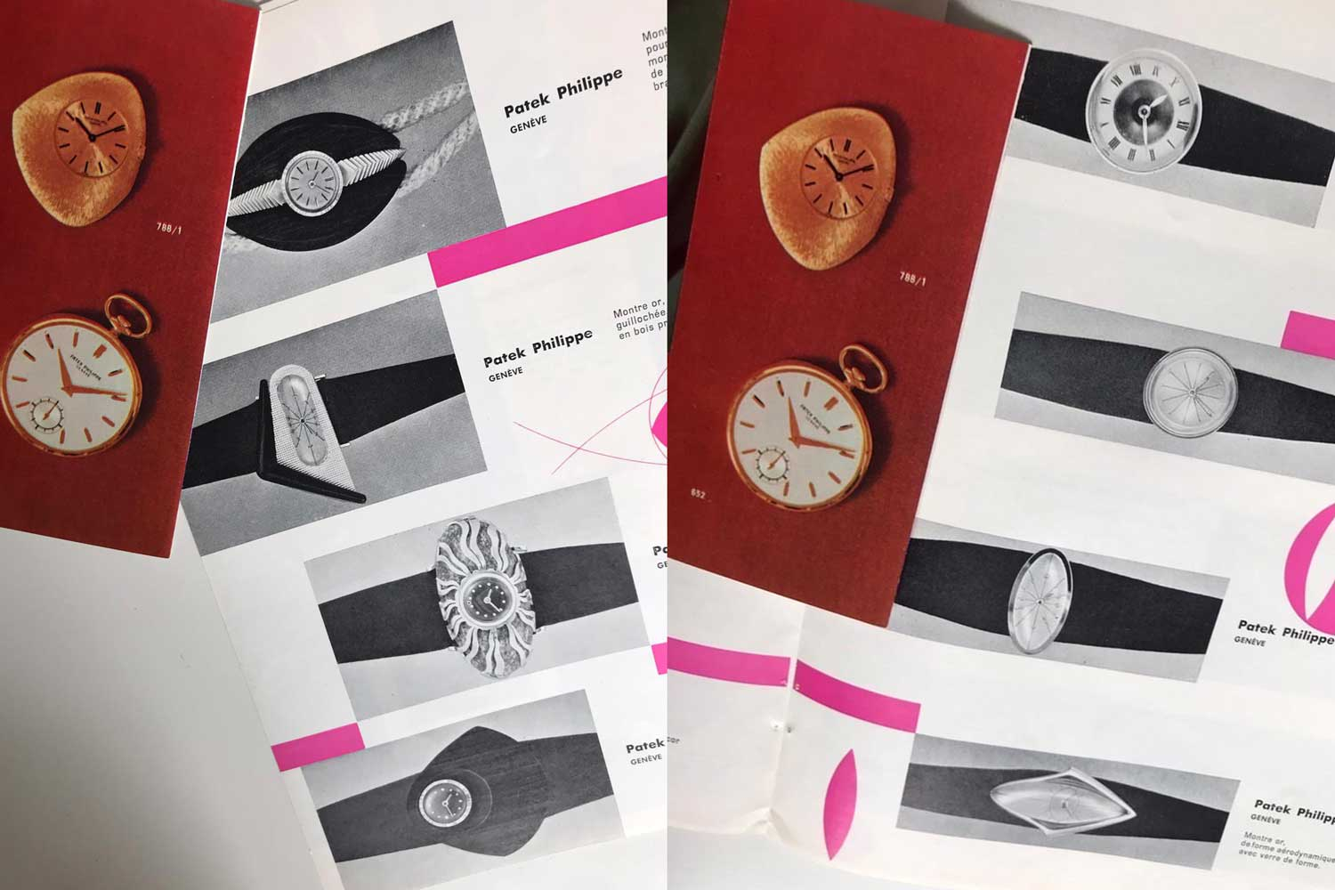 Catalogue pages from 1957 Baselworld showcasing some of Gilbert Albert's earliest designs .(Image: Dogu Tasoren)