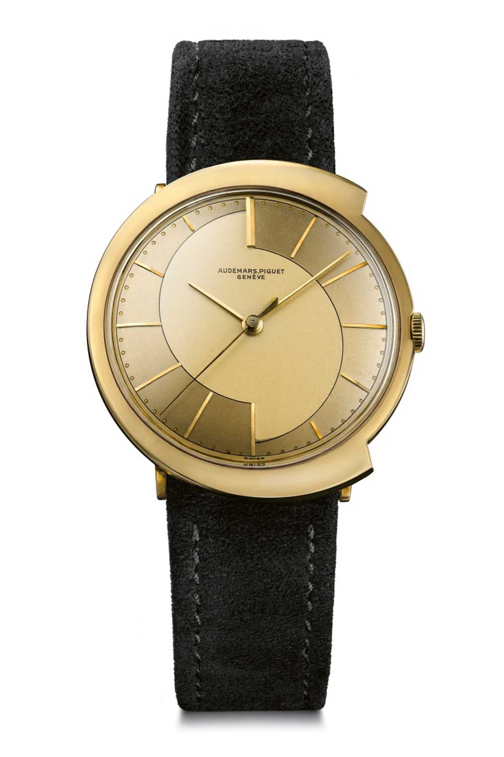 Audemars Piguet ref. 5182 followed the Japanese design principle of fukinsei with a case resembling a capital 'C' stretching from left to right to swallow up the round watch head, as if Pac-Man had discovered a sudden taste for horology.