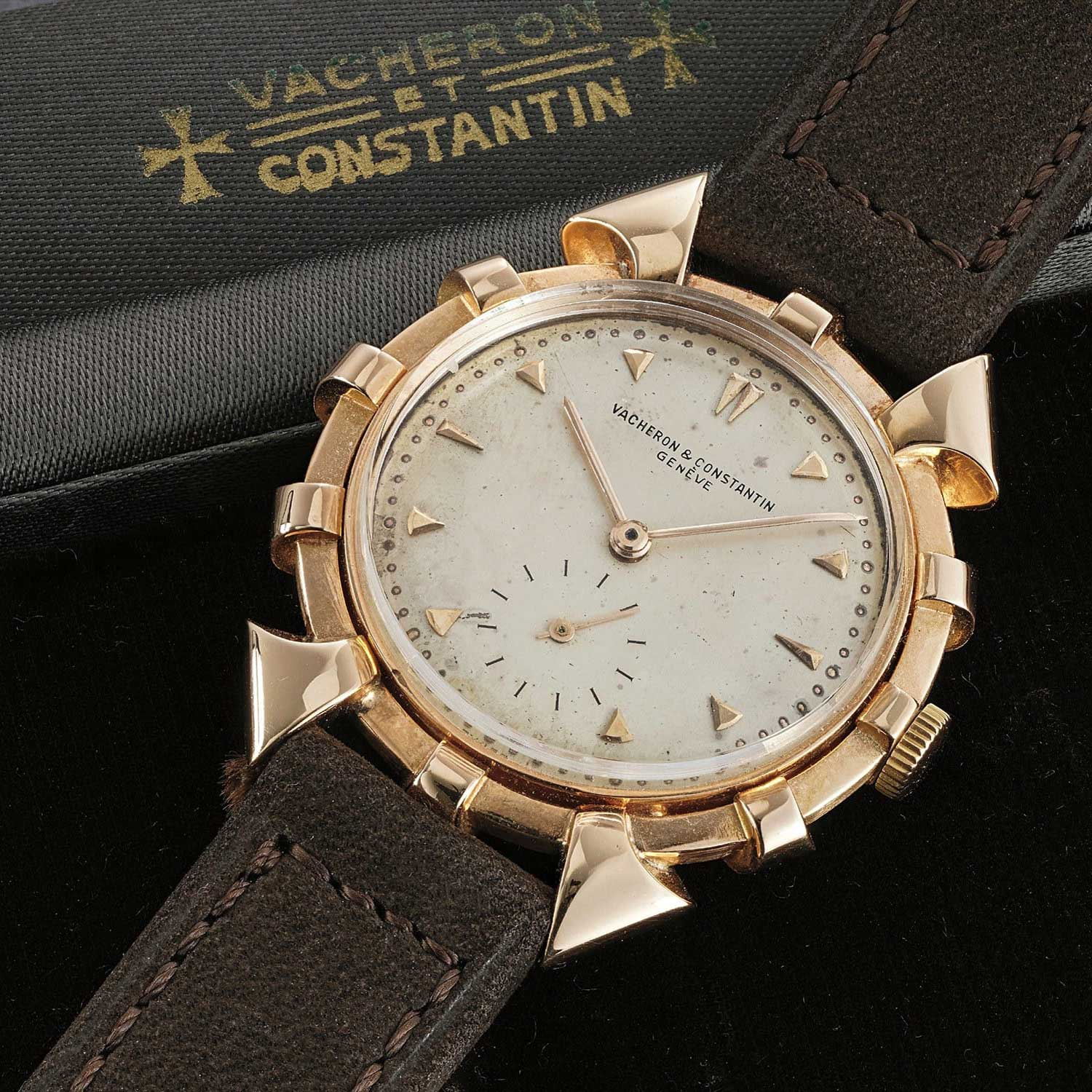 """Nicknamed the """"Helm"""" for its resemblance with a ship helm, the ref. 4709 from Vacheron Constantin boasts a case manufactured by C. Markowsky.(Image Phillips)"""