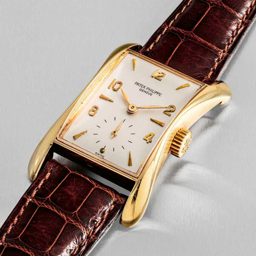 Markowski's cases like the Patek Philippe ref. 2442 evoked sensuality and intrigue like no other.(Image: Christie's)