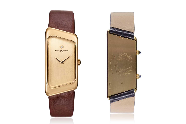Vacheron Constantin won the Prestige de la France award from the Comité de France in 1972 for this trapezoidal-shaped unisex watch powered by a tonneau-shaped calibre.