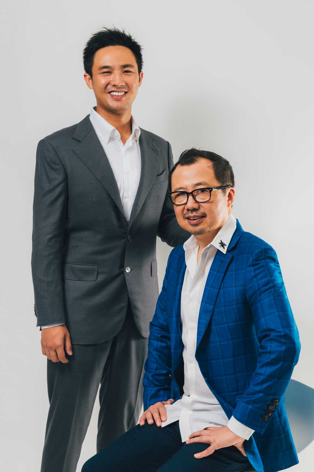 (L-R) Bryan Tan, Executive Director, Richard Mille Asia Pte Ltd with his father, Dave Tan, CEO of Richard Mille Asia Pte Ltd
