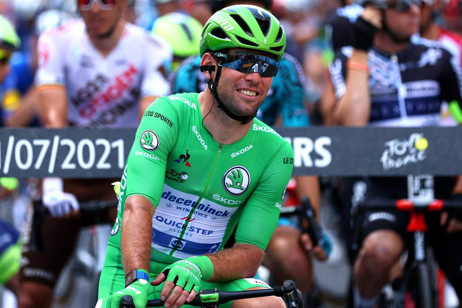 British cyclist, Mark Cavendish, who finished outside the time limit in his previous participation in 2018, crashed out in 2017, at the Tour de France 2021 with three stage victories to date and 33 career stage wins, swiftly chasing down Eddy Merckx's record of 34 (Image: eurosport.com)(