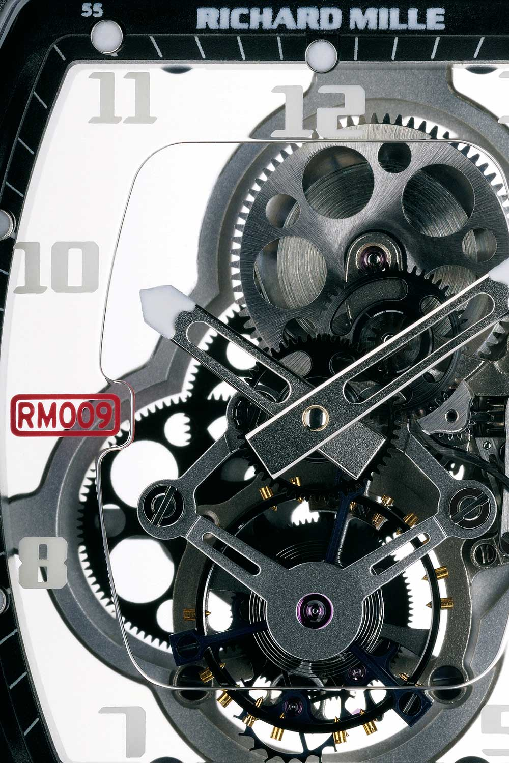 The nothingness that is the RM 009's skeletonized movement