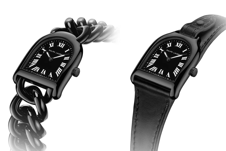 Phiên bản Petite đi kèm với một vòng đeo tay liên kết bằng thép đen tích hợp trong khi các phiên bản Lớn, Trung bình và Nhỏ đi kèm với một dây đeo bê đen có thể hoán đổi cho nhau.